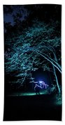 Light Painted Arched Tree  Beach Towel