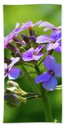 Light Purple Flowers  Beach Towel