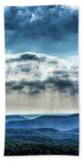 Light Rains Down Beach Towel