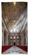 Light Rays In St Peter's, Rome Beach Towel