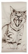 Light Sweet Cat Beach Towel