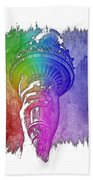 Light The Path Cool Rainbow 3 Dimensional Beach Towel