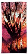 Light Through The Trees  Beach Towel