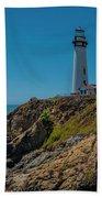 Light Tower Panoramic Beach Towel