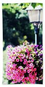Lighted Flowers Beach Towel