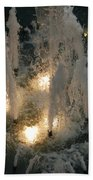 Lighted Fountain Beach Towel