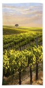 Lighted Vineyard Beach Towel by Sharon Foster