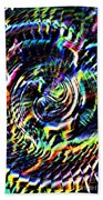 Lightening Fills The Vortex Beach Towel