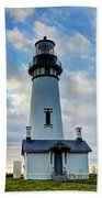 Lighthouse And Clouds Beach Towel