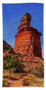 Lighthouse At Palo Duro Canyon Beach Towel