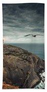Lighthouse Cliff Beach Towel