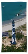 Lighthouse From Above Beach Towel