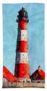 Lighthouse - Id 16217-152045-8706 Beach Towel