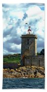 Lighthouse Ile Noire Beach Towel
