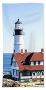 Lighthouse In Maine Beach Towel