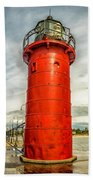 Lighthouse In South Haven Beach Towel