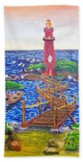 Lighthouse Island Beach Towel