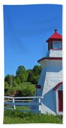 Lighthouse Landscape Two Beach Towel