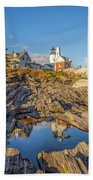 Lighthouse Reflection Beach Towel