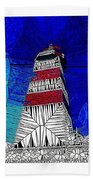 Lighthouse Stained Glass  Beach Towel