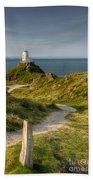 Lighthouse Twr Mawr Beach Towel