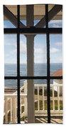 Lighthouse Window Beach Towel