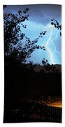 Lightning On The Distant Mountains Beach Towel