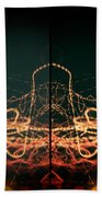 Lightpainting Quads Art Print Photograph 1 Beach Towel