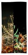 Lightpainting Quads Art Print Photograph 5 Beach Towel