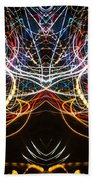 Lightpainting Symmetry Wall Art Print Photograph 1 Beach Towel