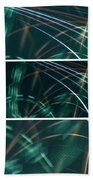 Green Film Grain Lightpainting Abstract Beach Towel