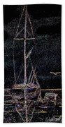 Lights By Night Beach Towel