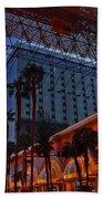 Lights In Down Town Las Vegas Beach Towel