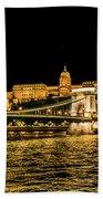 Lights Of Budapest Beach Towel