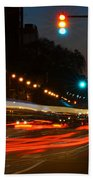 Lights Of The City Beach Towel