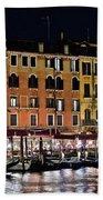 Lights Of Venice Beach Towel