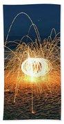 Lighty Fireworks Beach Towel