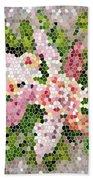 Lilac Bouquet II  Beach Sheet