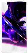 Lilac Fantasy Abstract Beach Towel