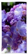 Lilac Flower Beach Towel