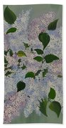 Lilac Flowers Expressing Harmony Beach Towel