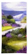 Lilac Valley Beach Towel