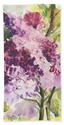Lilacs - Note Card Beach Towel