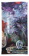 Lilacs And Candles Beach Towel