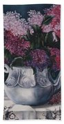 Lilacs And Lace Beach Towel