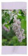 Lilacs In The Rain 6 Beach Sheet
