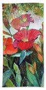 Lilies And Hummingbird Beach Sheet