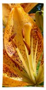 Lilies Art Prints Orange Lily Flowers 2 Gilcee Prints Baslee Troutman Beach Towel