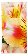 Lilies Art Prints Pink Yellow Lily Flowers 1 Giclee Prints Baslee Troutman Beach Towel