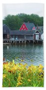 Lilies By The Bay, Cape Porpoise Me Beach Towel